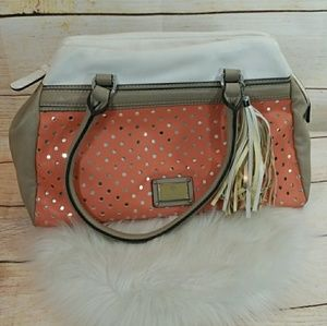 Guess handbag shoulder bag white & coral gorgeous